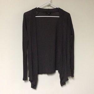 Express drapes grey cardigan